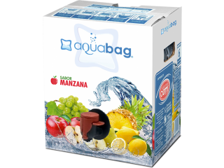 Agua Saborizada Aquabag en formato bag in box de 10 y 20 lts